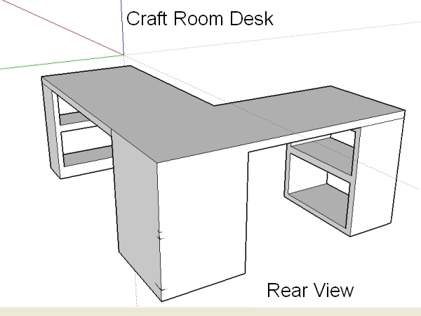 Craft room desk design the ugly duckling house for Make a craft table