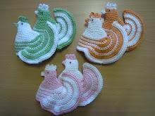 Eggehøner Heklet