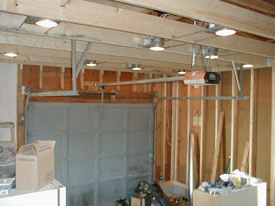 Fully enclosed garage to create home office/craft room and separate laundry room. Added windows and recessed lighting to create well light and highly ... : recessed lighting garage - azcodes.com