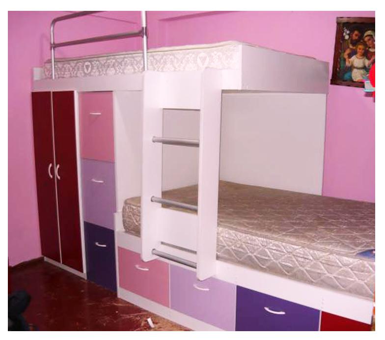Muebles decoratiba adolfo ibarra v camarote lineal con for Roperos para cuartos de ninas