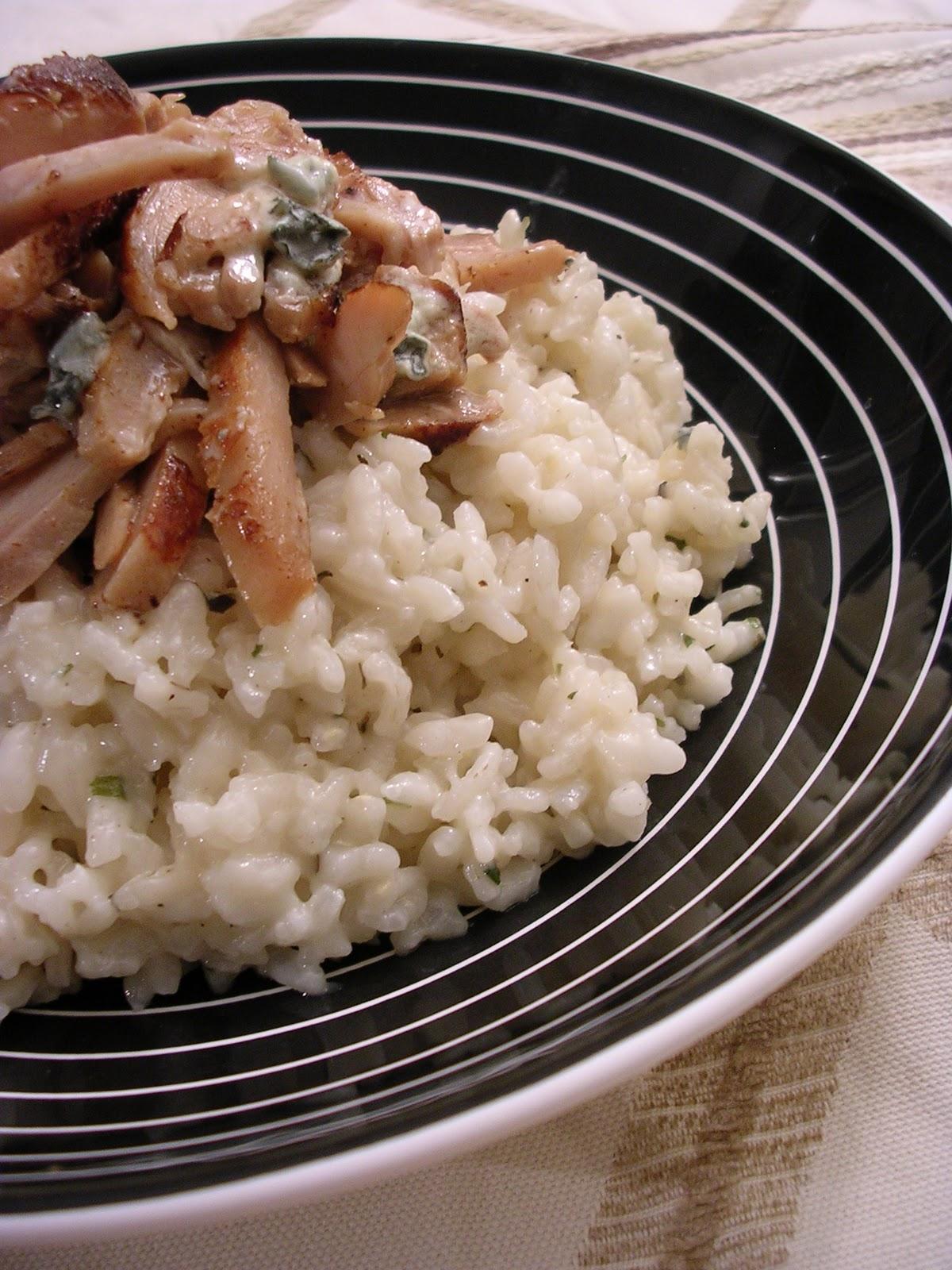 risotto poulet et gorgonzola