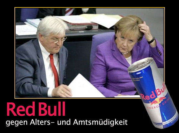 lupe der satire blog red bull wirbt mit merkel und. Black Bedroom Furniture Sets. Home Design Ideas