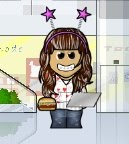 YOU CAN INVENT YOUR OWN AVATAR CARTOON IMAGE WITH DIFFERENT SITES. HERE IS MRS.TERRIGNO (WeeWorld)