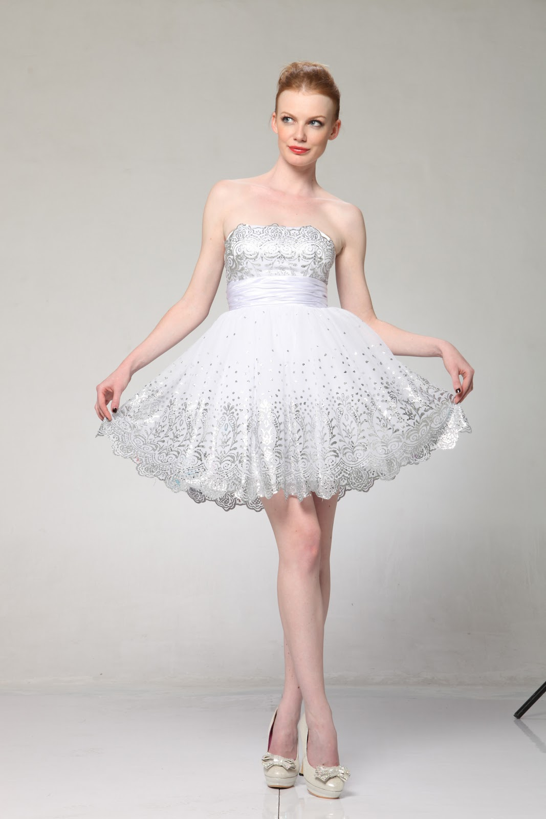 deceivingly domestic Wedding Wednesday short wedding dress