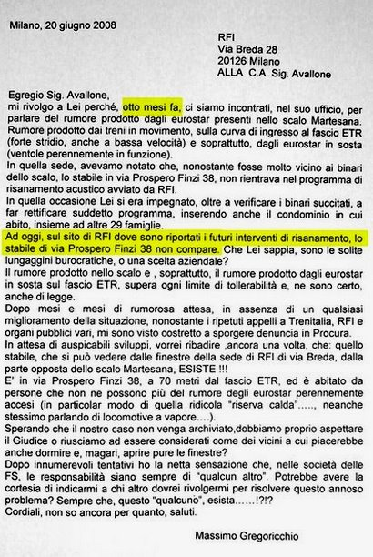 lettera a RFI