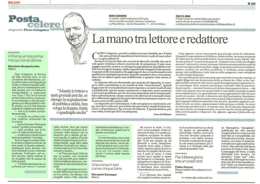 """lettera a """"la Repubblica"""" (20/12/08)"""