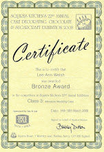 Bronze Award for a Miniature Wedding Cake - Squires Kitchen 2008