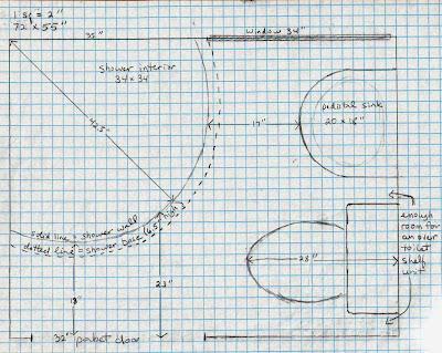 Bathroom Design Graph Paper 5 acres & a dream: bathroom plans on graph paper
