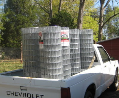 9, 100 ft rolls of 48 inch welded wire fencing
