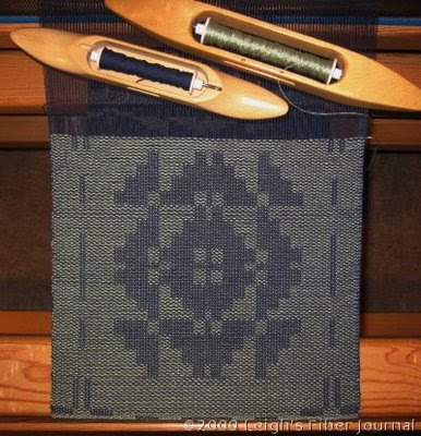 Leigh's S&W table runner on the loom