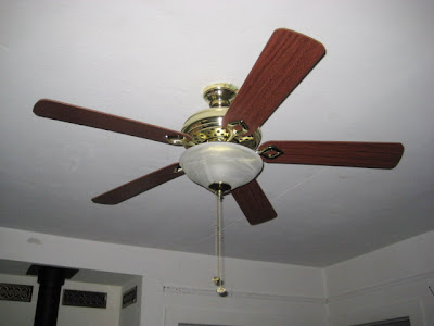 Living room upgraded with fan - light combo