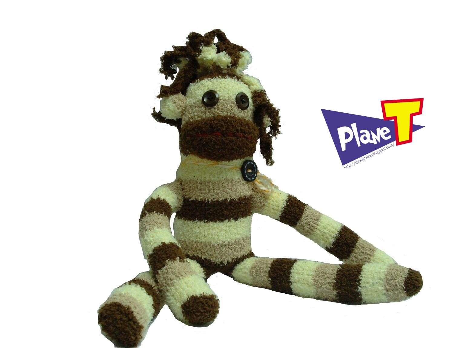 Planet Shop: SD10005 Handmade Sock Doll - Big Mouth Monkey