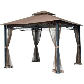 Exotic Curtains And Drapes Flat Roof Gazebo Mosq