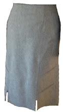 Falda franela gris pinzas traseras