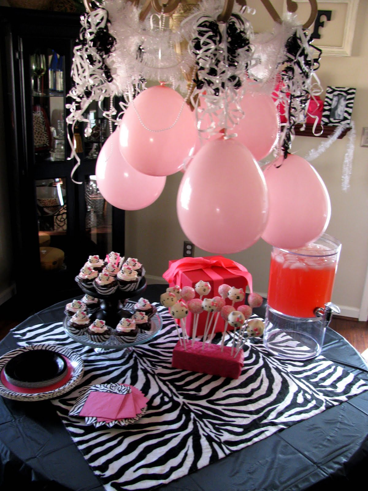 Our creative life a hello kitty birthday party not just for Animal print party decoration ideas
