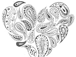 Paisley Heart Coloring Pages