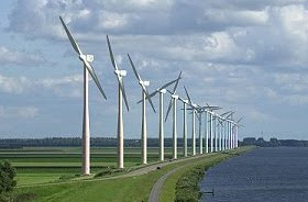 windmills in Flevoland