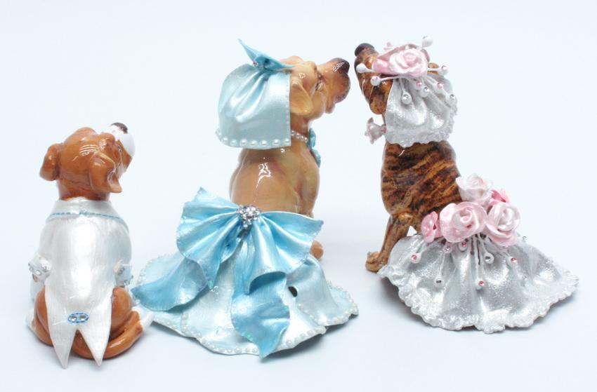 lovebdt19 3 dogs wedding cake topper