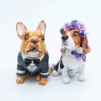 Customized Dog Wedding Cake Topper look like your dog Made from your dog