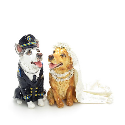 Your Dog Wedding Cake Topper Sculpt and Paint from your dog picture