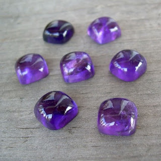 square amethyst cabochon