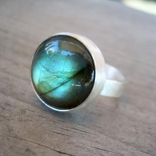 modern labradorite ring