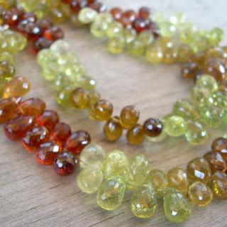 green garnet beads