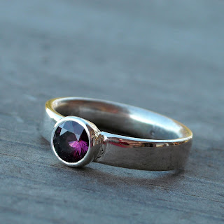 garnet ring recycled