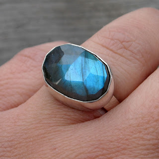 faceted labradorite ring