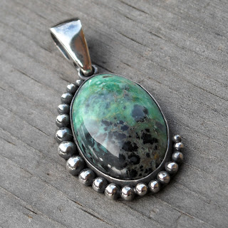 variscite pendant necklace