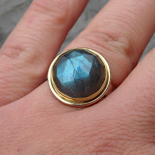 labradorite ring gold
