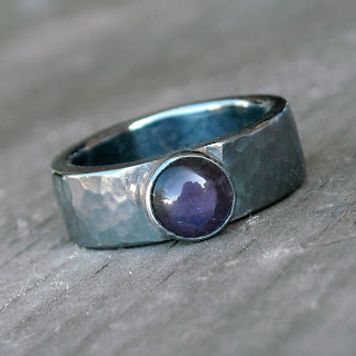 amethyst oxidized ring