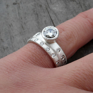 ethical moissanite ring
