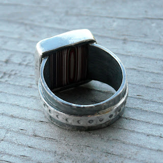 recycled fordite ring