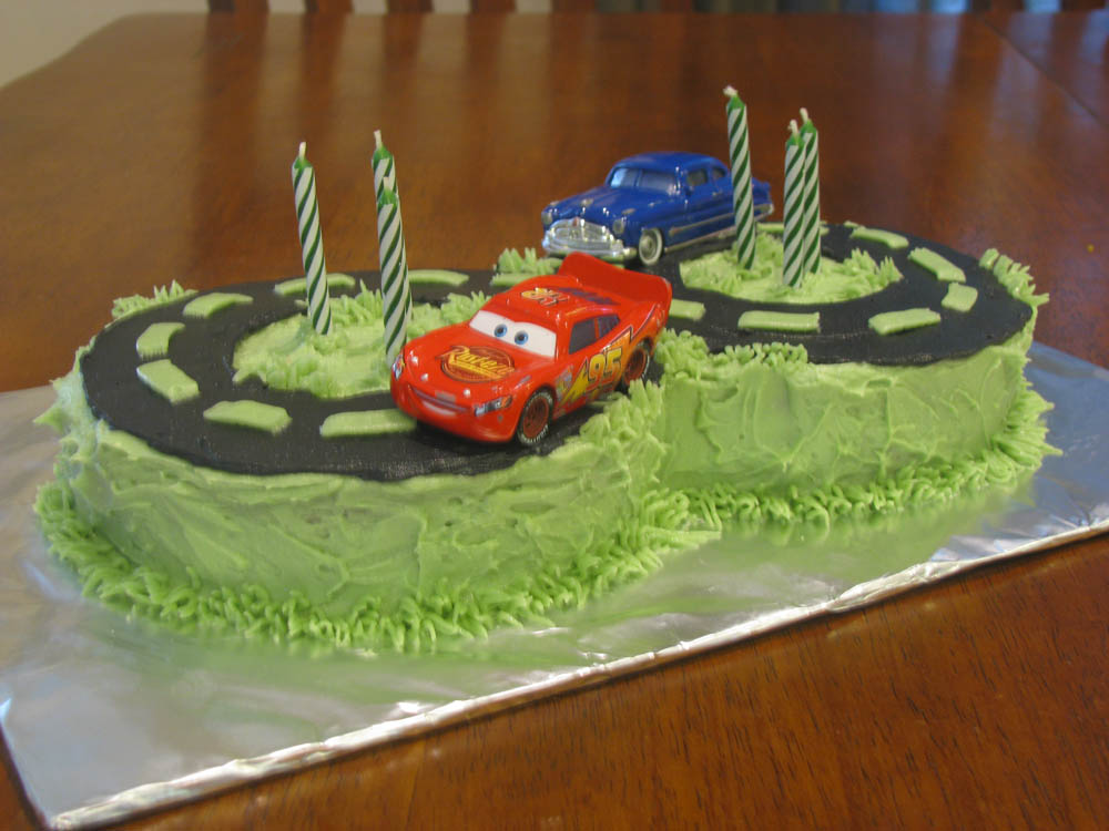 Cakes by Angel: Tylers  5th B-day Race Track Cake