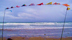 Flags at Rossnowlagh, Co. Donegal, Ireland
