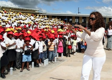 Oprah open school in Africa 