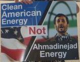 Clean American Energy, Not Ahmadinejad Energy