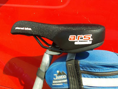 Cory's new bike saddle