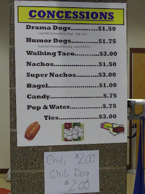 Concession stand sign, Aberdeen debate/interp boosters, State Interp, 2010.12.04