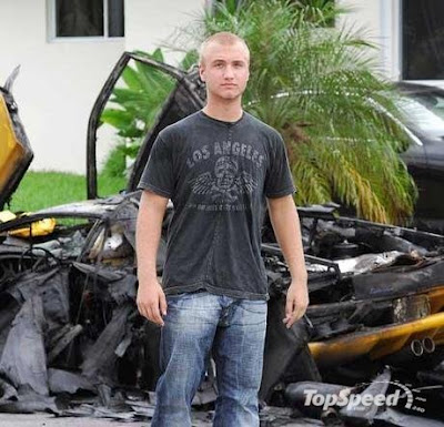 Nick bollea Hogan, Hulk Hogan's son stand before the car crashed in 2006