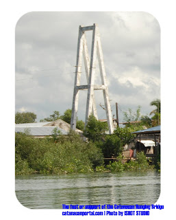 Foot or Support of the old Hnaging bridge, Taken from the mainland side