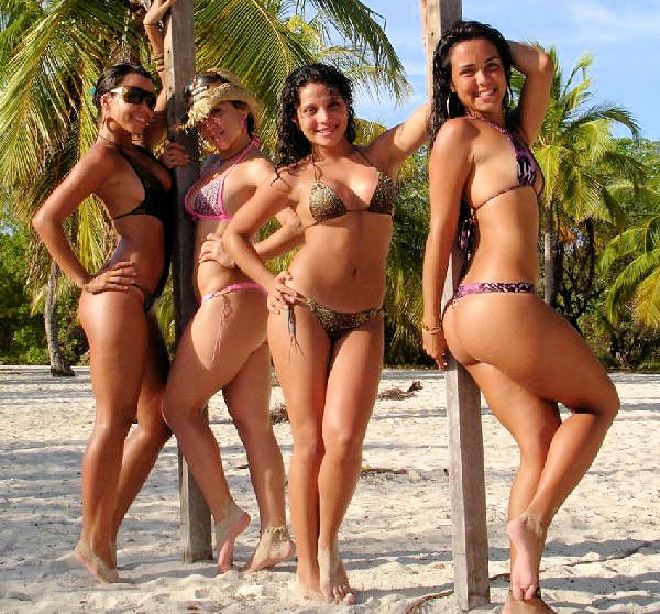 latin beach bikini girls for my class blog