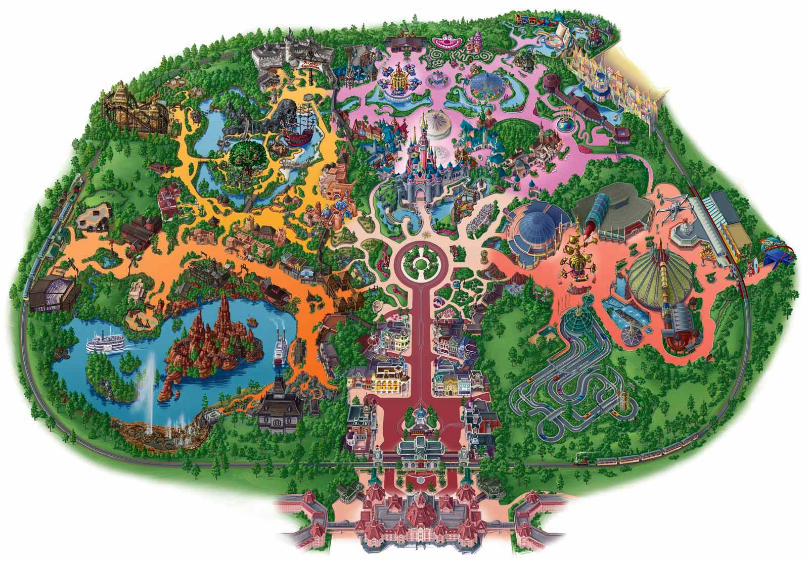 Printable Magic Kingdom Map 2015 2016 - Disney World Magic Kingdom ...