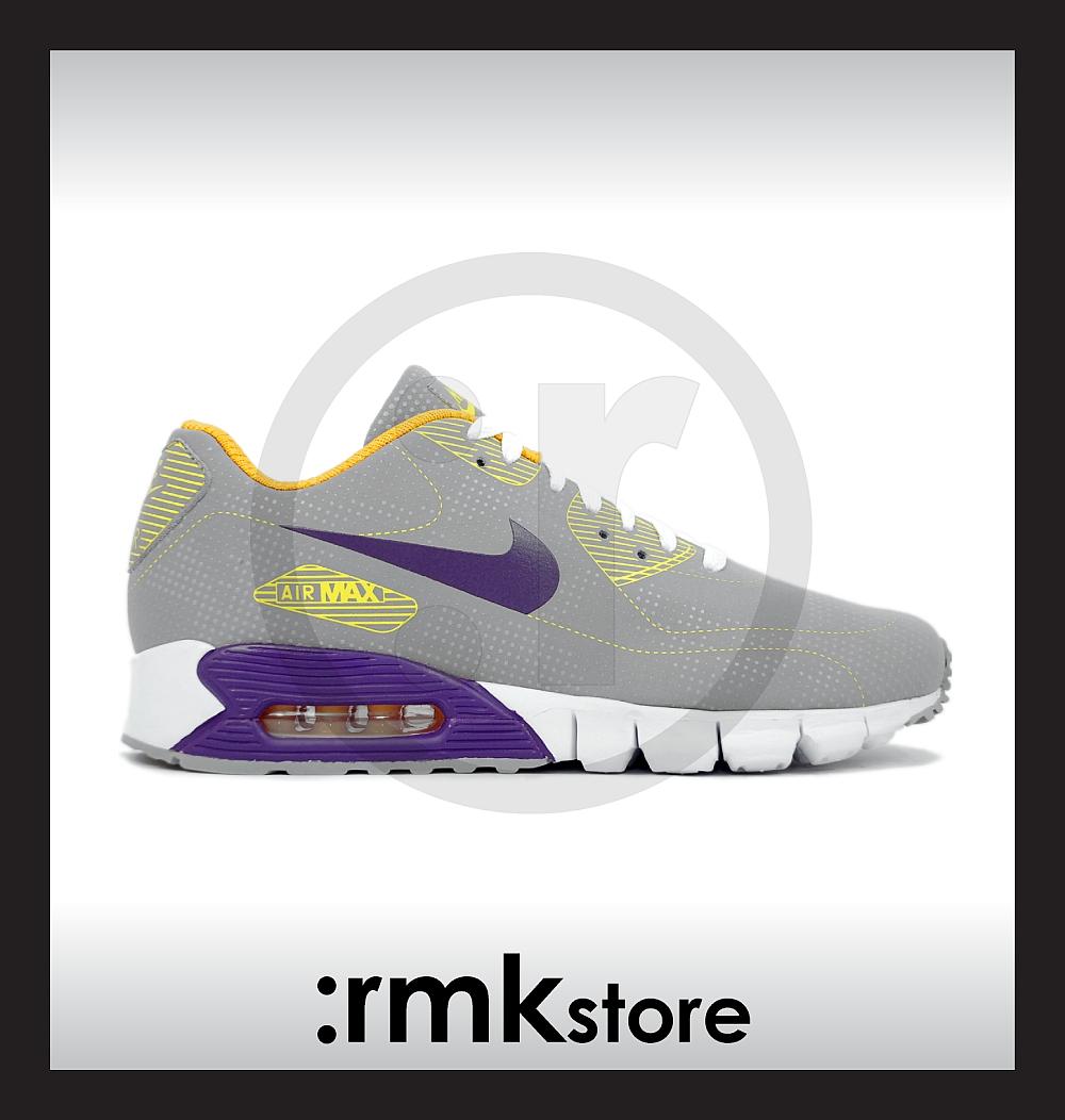 Nike Air Max 90 Current Moire Football 94 Grey Club Purple 344081-051 \u0026amp; Black Green 344081-031