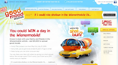 Oscar Mayer Shotbun Contest on Goodmoodmission.com