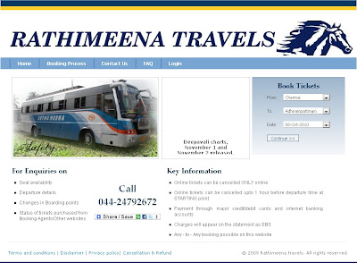Rathimeena Online Ticket Booking using Rathimeena.co.in