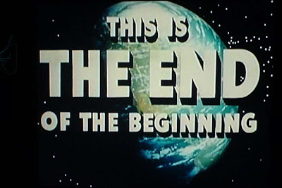 'THIS IS THE END OF THE BEGINNING': Final image from George Pal's 'Destination Moon' (1950)