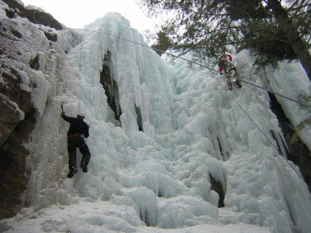 Midwestern ice climbing
