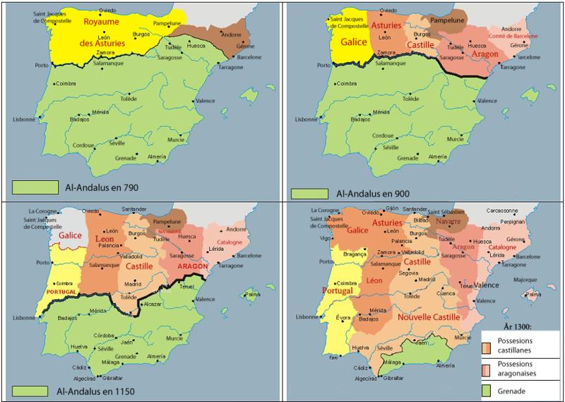 Evolución de la frontera de Al Andalus
